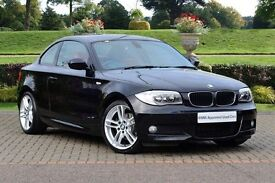 BMW 120d M Sport Coupe red leathers