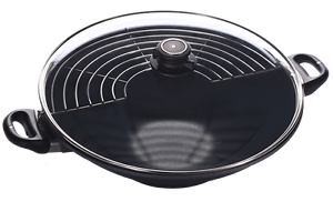 Swiss Diamond 36cm - 6L Wok With Glass Lid - Brand New Canning Vale Canning Area Preview