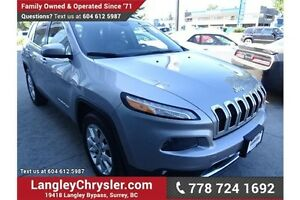 2014 Jeep Cherokee Limited w/Pano Moonroof, Leather Int & Nav...