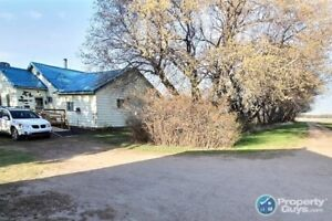 The 3 bedroom, 1 bathroom 1300 sq.ft. home sits on 14 acres