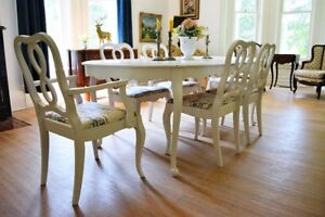 Antique Vintage French Shabby Chic Dining Set