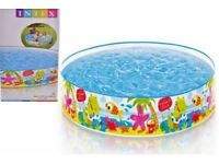"Children's Intex paddling pools 5Ft x 10"" brand new in the box - pool swimming wholesale"