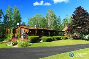 Lovely log home located just outside Baddeck.