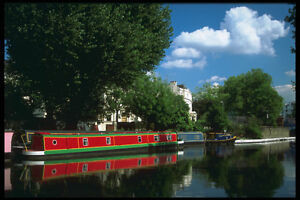579021-Tranquil-Scene-Grand-Union-Canal-London-England-A4-Photo-Print