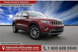 2014 Jeep Grand Cherokee Limited w/ Backup Camera