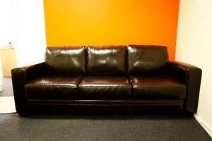 3 seater leather lounge Surry Hills Inner Sydney Preview