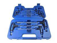 BERGEN 9 Piece T Handle Hex/Allen Key Screwdriver Ball End Set 2mm To 10mm