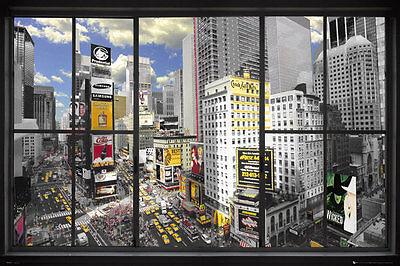 Poster NEW YORK - Window - Times Square NEU 57716