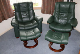 Two Stressles recliner chairs