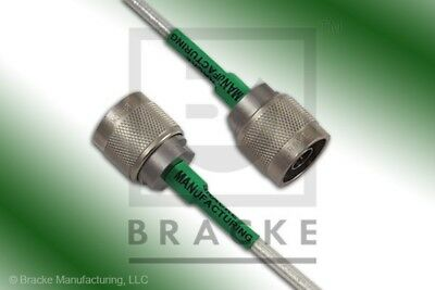 18 Ghz N Male Flexible Cable Assembly Bracke Bm95001.72 72 Inches