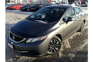 2013 HONDA CIVIC EX - AUTOMATIC - CLOTH INT - SUNROOF - REAR CAM