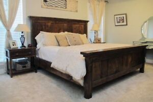 Rustic Farmhouse Style Beds - Double/Queen/King