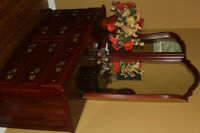 Cherry Wood Bedroom Set. (5 piece)