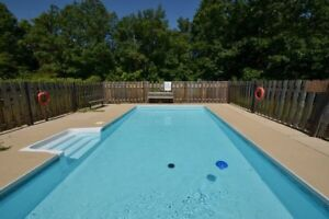 Outdoor pool -Blue Mountain Cottage Rent