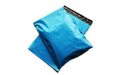 10x Blue Mailing Bags 17x21