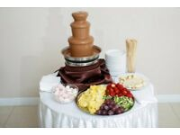 Chocolate fountain for hire in Leicester and Leicestershire (candy floss hire)