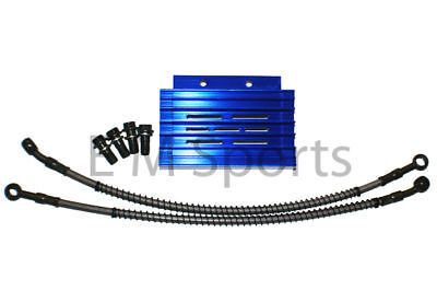 Chinese Dirt Pit Bike Blue CNC Oil Cooler Radiator Apollo AGB-37CRF-2 Parts