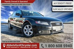 2010 Audi A4 2.0T ACCIDENT FREE!