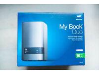 Western Digital 16TB My Book DUO - (ENCLOSURE ONLY) - BNIB - USB 3.0 - For SATA Hard Drives