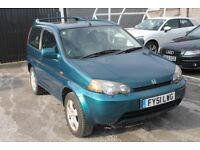 2001 51 HONDA HR-V 1.6 PETROL, **EXCELLENT IN SNOW** LOW MILEAGE **DRIVES LIKE BRAND NEW** £1100.00