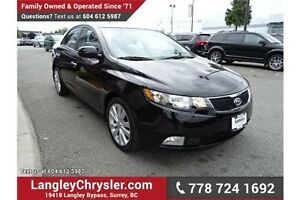 2012 Kia Forte 2.4L SX W/LEATHER, HEATED SEATS & SUNROOF