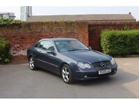 2005 05 MERCEDES CLK200 AVANTGARDE AUTOMATIC, VERY LOW MILEAGE, IMMACULATE CONDITION, DRIVES SUPERB