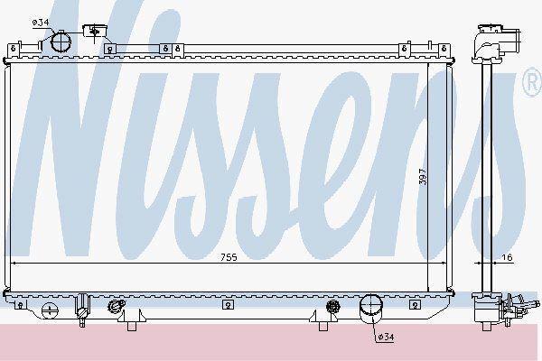 Nissens 64759 Radiator LEXUS GS300 AUT 93-97