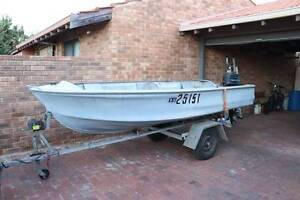 Aluminium Boat - Doggett 3.83m - 10hp Mercury - Solid Trailer Bull Creek Melville Area Preview