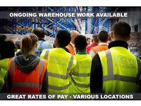 Warehouse Picker / Packer - Working till January!