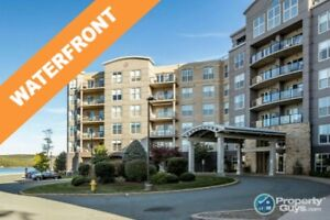 Waterfront 2 bdrm/2 bath + den condo, close to all amenities