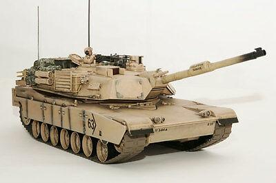 Large Scale RC M1A2 Abrams Tank  Desert Camo, Lights, Sound, Shoots - Hobby Engi