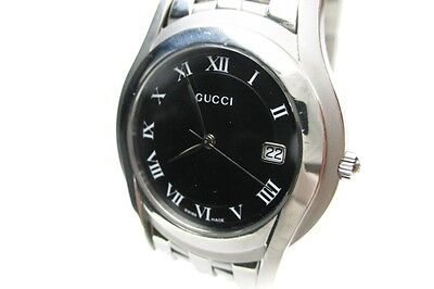 Authentic GUCCI Model 5500M Black Dial, Date Quartz Men