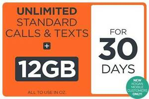 Mobile Prepaid Starter Voucher $50 Loaded, 12GB Unlimited Sydney City Inner Sydney Preview