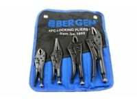 BERGEN LOCKING PLIER SET CURVED JAW & STRAIGHT LONG NOSE mole grips