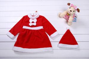 Baby Boy Girl Christmas Xmas Santa Claus Costume Dress Romper Outfit Set 6-24M