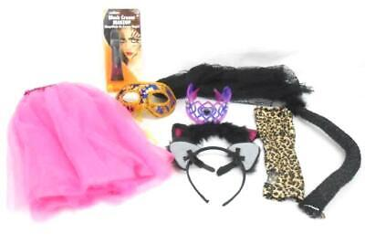 Lot of Girl Halloween Costume Accessory Pieces Makeup Wings Cat Ears Crowns - Cat Halloween Costumes Makeup