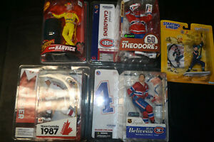 Vintage and McFarlane NHL and NASCAR figures unopened - $50for