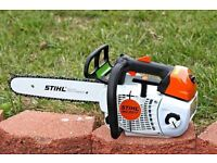 """Stihl MS201T 14"""" Bar , Top Handle Chainsaw , New and Unused"""