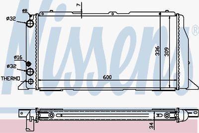 Nissens 60487 Radiator AUDI 80 4CYL16 18  86 91