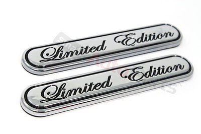 Limited Parts - 2 Chrome Special Limited Edition Emblems for car*truck rear trunk/side/fender