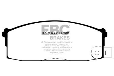 EBC Ultimax Front Brake Pads for Nissan Stanza 1.6 (85 > 86)