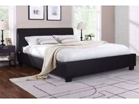 🌷💚🌷LATEST DESIGN - FAUX LEATHER 🌷💚🌷LEATHER BED FRAME IN SINGLE,SMALL DOUBLE,DOUBLE & KING SIZE