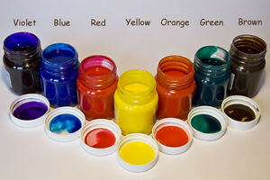 GLASS-PAINT-50ml-Violet-Red-Blue-Yellow-Orange-Green-Brown