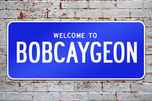 Bobcaygeon street sign / welcome sign for wall
