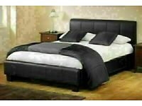 AMAZING SALE OFFER NEW FAUX LEATHER SINGLE-DOUBLE+SMALL DOUBLE & KING SIZE BED FRAME