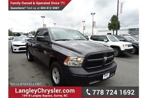 2016 RAM 1500 ST W/POWER GROUP, A/C & SAFETY REAR CAMERA