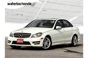 2014 Mercedes-Benz C-Class AWD, Leather and more!
