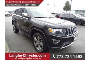 2015 Jeep Grand Cherokee Limited w/Navigation & Leather Interior