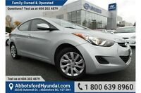 2012 Hyundai Elantra GL w/- Heated Front Seats & Bluetooth