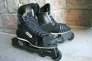 Bauer Rollerblades hockey skates off ice size 9D or US 10  Ideal